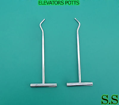 2 Dental Elevator Potts 6x 7x Surgical Instruments