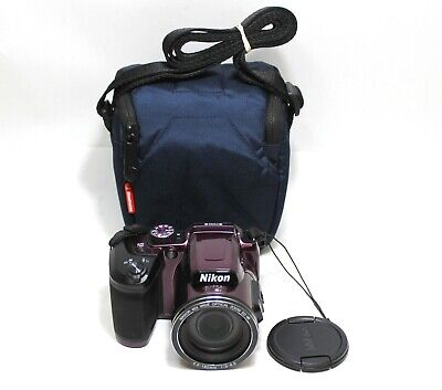 """Nikon COOLPIX B500 16MP Digital Camera (App Enabled) 3"""" LCD With Case - Red"""