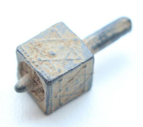Antique Lead Sevivon Judaica Hanukkah Dreidel סביבון – ויקיפדיה (JR21-1-01)