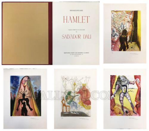 "Salvador Dali ""hamlet Suite"" 1973 | 10 Engravings | Albert Field Authenticated"