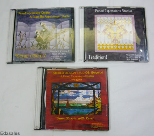 3 Paned Expressions Studios Stained Glass Pattern CDs
