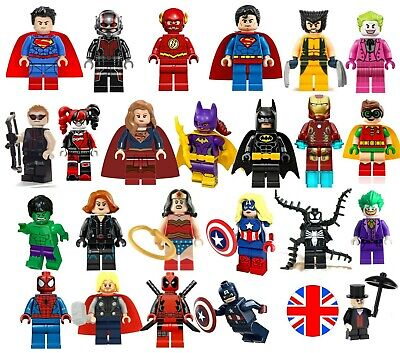 Super Heroes Minifigures Custom + Lego Superhero Single Mini Figures MiniFigs