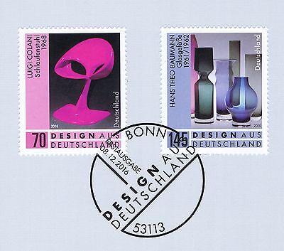 BRD 2016: Design aus Deutschland (I)! Nr. 3271+3272 mit Bonner Stempel! 1A! 1801