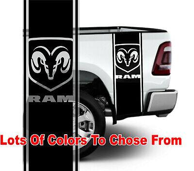Dodge Ram 1500 2500 350 Hemi Rear Truck Bed Decal Racing Vinyl Stripes Sticker#4