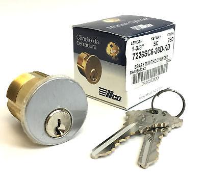 Brass Ilco Mortise Key Cylinder 1-38 Sc Model 7226sc6-26d-kd