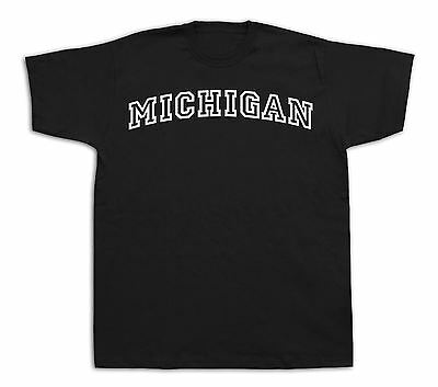 Michigan Great Lakes State MI UNIVERSITY T-shirt Classic Apparel Sport Style TEE