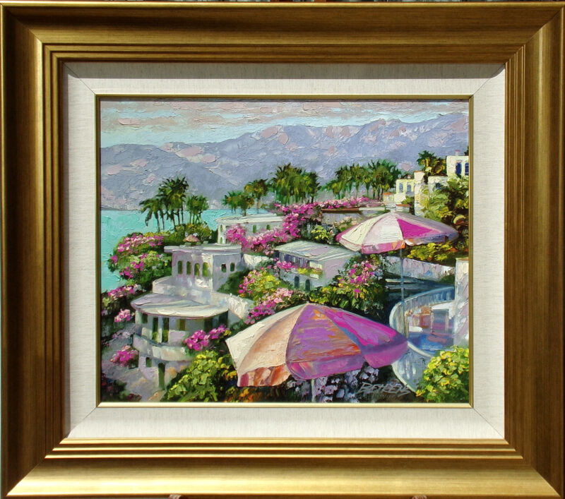 """Howard Behrens """"acapulco Memories"""" Hand Embellished Signed Art Giclee On Canvas"""