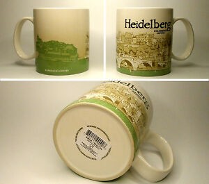 ▓#▓ Starbucks City Mug Icon HEIDELBERG * Germany Tasse 16oz NEW with SKU  ▓#▓