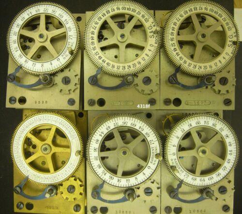 4318,  Six, Sargent, S & G Vault timelock mechanisms five running, 1 lot