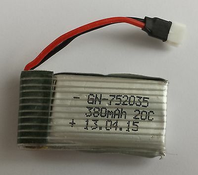 MJX F47 Battery 3.7V, 380mAH for helicopter, Hubsan X4 H107, quadcopter, UK