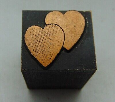 Printing Letterpress Printers Block 2 Small Hearts