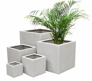 terrazzo cube planter 3 sizes indoor outdoor plant pot decoration new