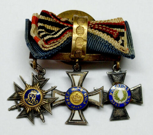 WWI set of 3 German Enamel Miniature Order - Medals