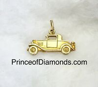 Sterling silver 24kt gold plated vintage car pendant charm