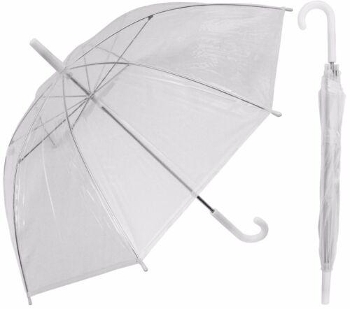 "12 Piece Lot - 32"" Arc Children Kid Clear Umbrella (standard frame)-RainStoppers"