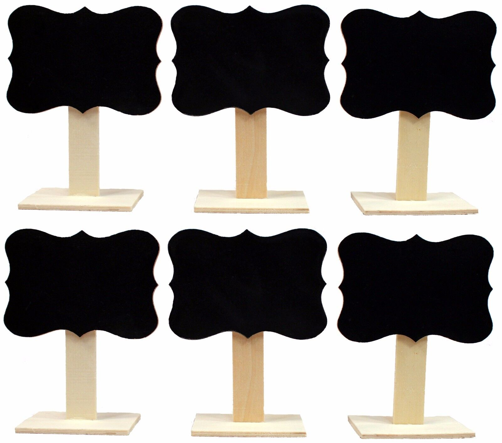 5″ Tall Wood Chalkboard Wedding Dinner Party Table Place Card Signs, Box of 6 Home & Garden