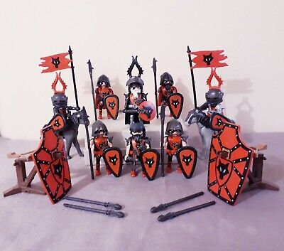 Playmobil wolf knights, large crossbows, castle figures playset, accessories