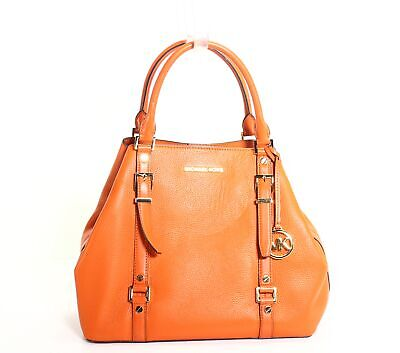 Michael Kors Handbag Burnt Orange Bedford Legacy Large Tote Leather $358- #011