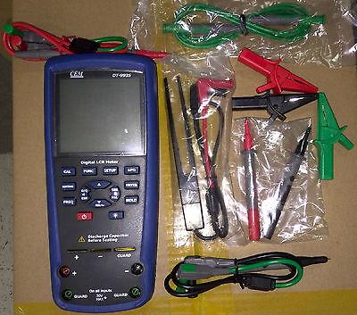Digital Lcr Meter 10khz Inductance Capacitance Resistance Lcrqd Tester Dt-9935