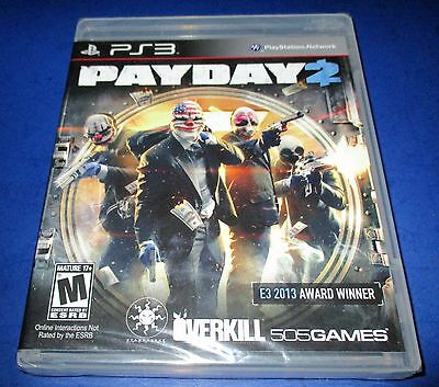 Payday 2 Sony Playstation 3  Factory Sealed   Free Shipping