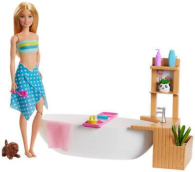 Barbie y su Bañera de Burbujas, muñecay accesorios para niños y niñas...