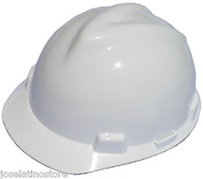 Msa White V Gard Cap Style Safety Hard Hat Ratchet Suspension New Fast Shipping