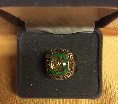 Boston CELTICS NBA Team Ring Size 6 thru 12 Gold Color CELTICS Jewelry Special