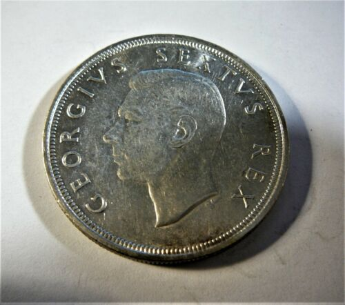 1949 South Africa 5 Shilling George VI silver coin SB1