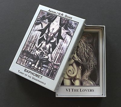 H.R. Giger Baphomet Underworld Tarot Cards Deck and Book Set English Edition