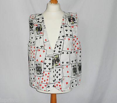 Funny Novelty Waistcoat Playing Cards Fun Fancy Dress Gift Idea Party Festival