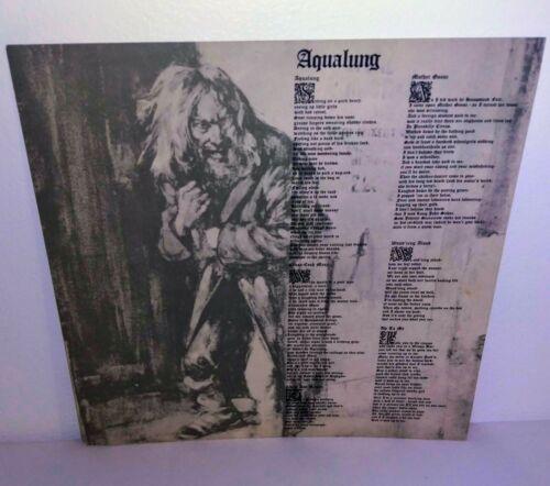 JETHRO TULL Original 1971 Poster Lyrics Insert For Aqualung Vinyl Lp Album
