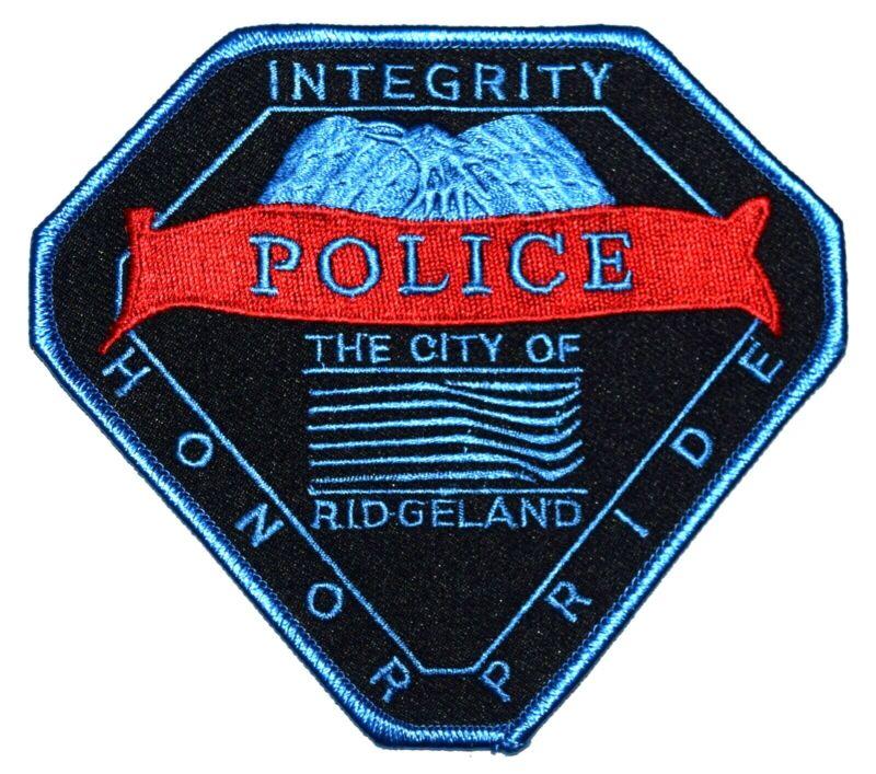 RIDGELAND MISSISSIPPI MS Sheriff Police Patch BANNER CITY LOGO EAGLE ~