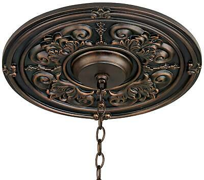 Large Medallion shield solid brass and onyx