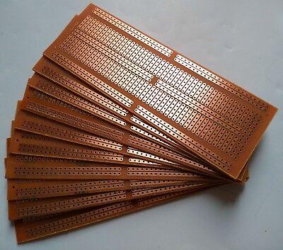 10pcs 4.8x13.4cm Stripboard Prototype Circuit Perf Board Bus Breadboard Vero Pcb