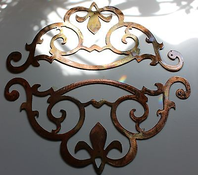 Metal Wall Art Accent Scroll Corners set of 2