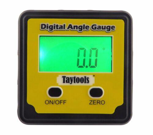 Taytools Angle Cube Digital Level Inclinometer Bevel Box  w/ Back Lit Display