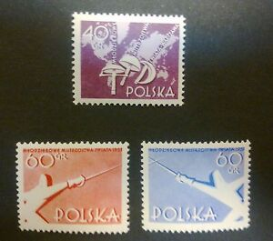 POLAND-STAMPS MNH Fi860-2 SC766-8 Mi1005-07 -Championships in fencing,1957,clean - <span itemprop=availableAtOrFrom>Reda, Polska</span> - POLAND-STAMPS MNH Fi860-2 SC766-8 Mi1005-07 -Championships in fencing,1957,clean - Reda, Polska