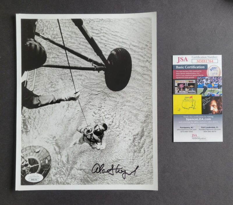 Alan Shepard signed Freedom 7 1st American In Space Photo Jsa Authenticated