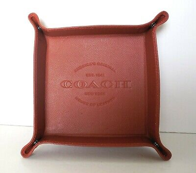 Coach Collectible 25437 Signature Leather Valet Desk Tray