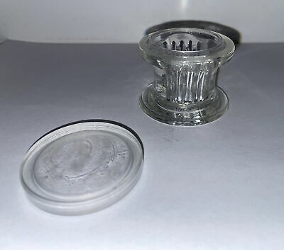 Aht Co. Vintage Glass 4 Slide Staining Jar Lab Apothecary Chemist Made In Usa -h