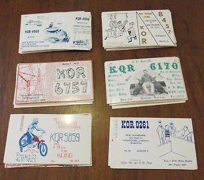 QSL Ham Radio Card Lot of 61 Louisana LA