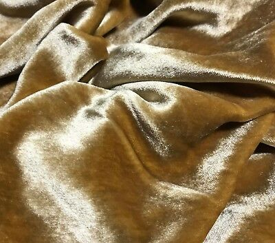 GOLD Silk VELVET Fabric - Gold Fabric
