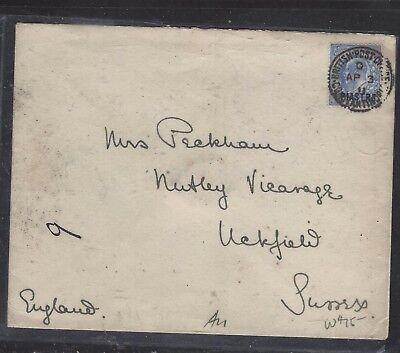 BRITISH LEVANT OFFICES IN TURKEY (P1410B) KE 40 PA 1911 TO SWITZERLAND