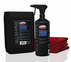 5Ltrs Waterless Car Wash & Wax Kit, + Free Trigger Bottle