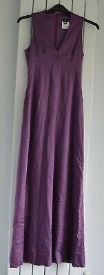 Italian Versus Versace Ladies Mauve Dress Zip Back Size 26/40