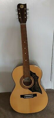 Vintage 1970's Kay K320 Acoustic Guitar, Soft Case & Book - Made in GDR