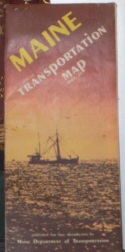 1977 Maine Official Transportation Map