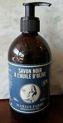 Marius Fabre French Savon Noir Liquid Olive Soap 500 ml Pump Biodegradable