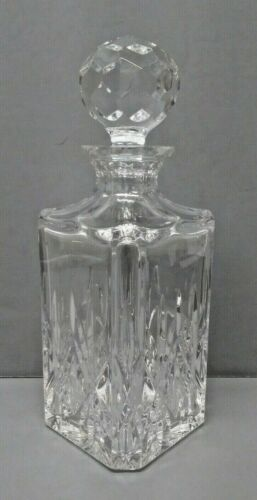 """Excellent Vintage Tiffany & Co. 10"""" Crystal Decanter with Faceted Stopper  MG"""