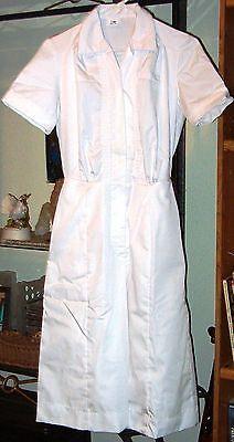 SALE - size  6 NEW Womens  Nurse  scrub  Dress / waitress uniform  White Cotton